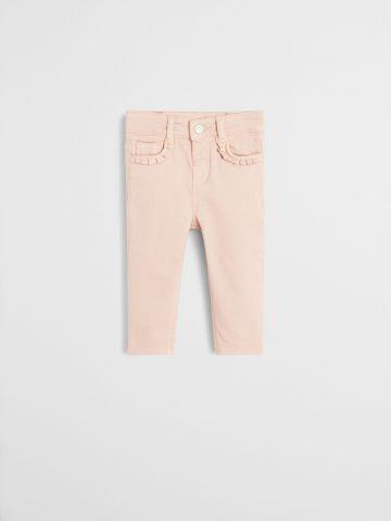 ג'ינס סקיני עם עיטורי מלמלה / בייבי בנות
