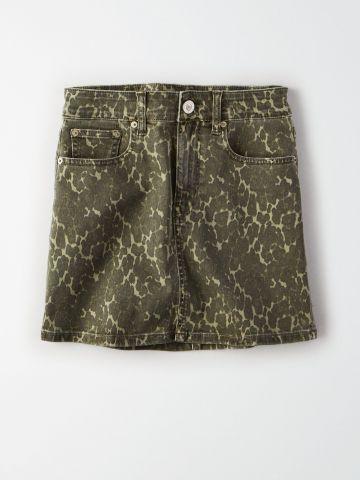 חצאית מיני בהדפס מנומר / נשים