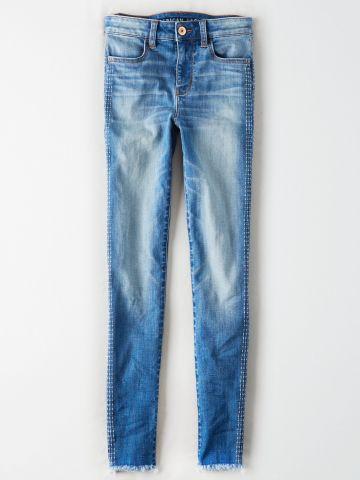 ג'ינס סטריפים עם סיומת פרומה / נשים