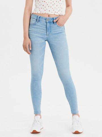 ג'ינס סקיני סטרץ' בשטיפה בהירה Jegging