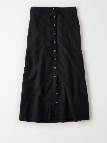 חצאית מקסי עם כפתורים / נשים