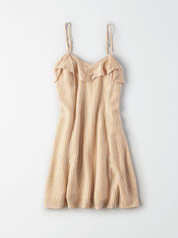 שמלת מיני בהדפס פסים / נשים