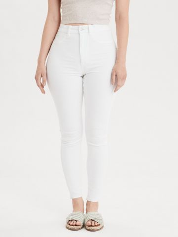 ג'ינס Curvy ארוך בשטיפה בהירה Super High Rise Jegging של AMERICAN EAGLE