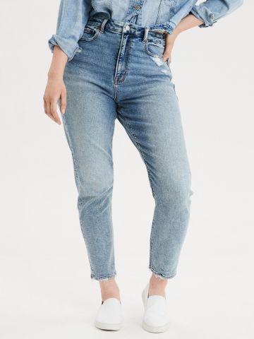 ג'ינס Curvy Mom בסיומת פרומה / נשים