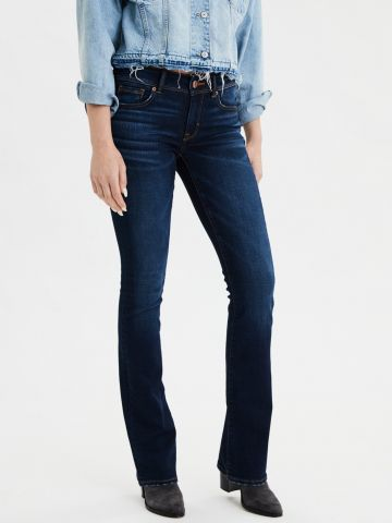 ג'ינס מתרחב בשטיפה כהה Kick boot
