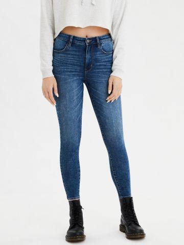 ג'ינס סקיני ווש בגזרה גבוהה / נשים