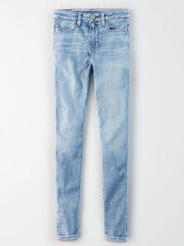 ג'ינס סקיני סטרץ' בשטיפה בהירה High Rise Jegging / נשים
