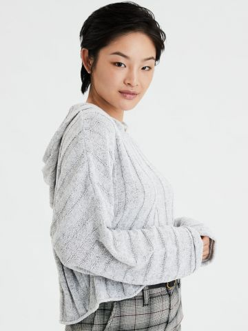 סוודר ריב עם כובע