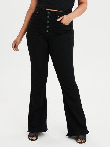 ג'ינס מתרחב עם כפתורים