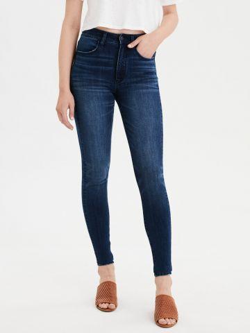 ג'ינס סקיני סטרץ' בשטיפה כהה Super High Rise Jegging