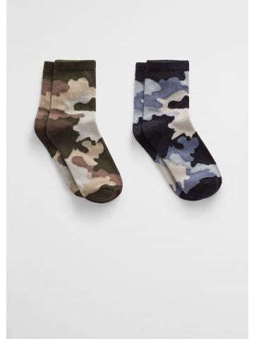 מארז 2 גרביים בהדפס קמופלאז' / בנים