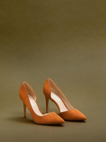 נעלי עקב סטילטו עם פתח בצד