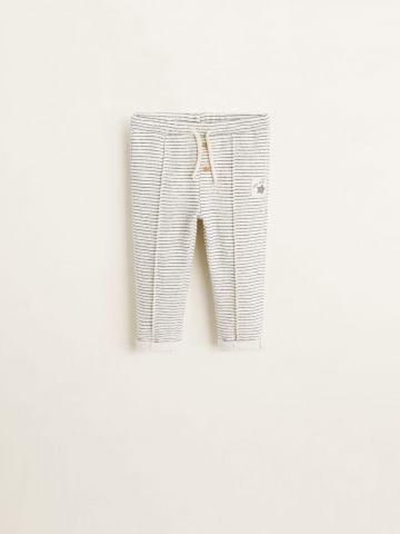 מכנסיים ארוכים בהדפס פסים / בייבי בנים