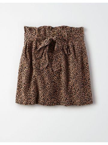 חצאית מיני פייפרבאג בהדפס מנומר / נשים