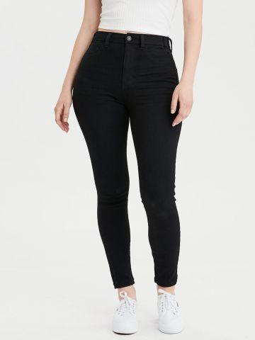 ג'ינס CURVY ארוך בשטיפה כהה super high-waisted של AMERICAN EAGLE