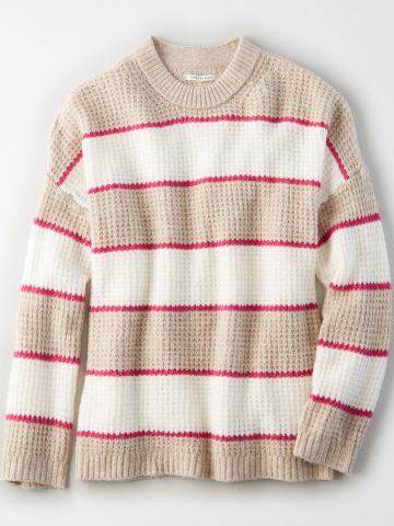 סוודר בדוגמת פסים / נשים