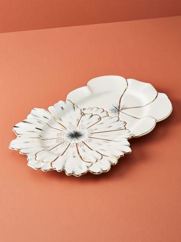 צלחת חרס דקורטיבית בצורת פרח Papetal by Jennifer Tran