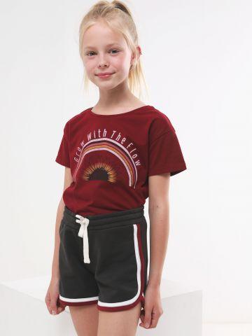 מכנסי טרנינג קצרים עם סיומת מודגשת של AMERICAN EAGLE
