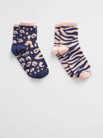 מארז 2 זוגות גרביים בהדפס חברבורות / בנות