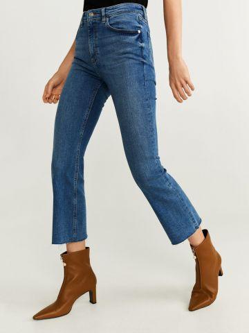 ג'ינס קרופ בגזרה ישרה
