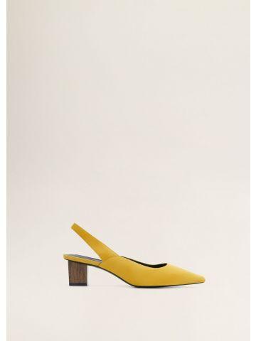 נעלי עקב זמש עם עקב מרובע / נשים