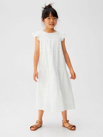 שמלת מקסי קומות עם רקמה