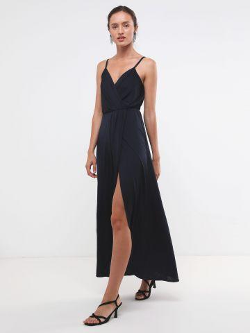 שמלת מקסי עם שסע X שושיין