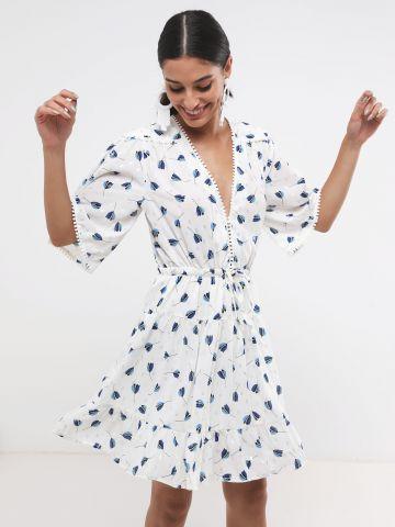 שמלת מיני שיפון בהדפס פרחים SABINA MUSAYEV