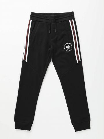 מכנסי טרנינג עם סטריפים ולוגו / בנים