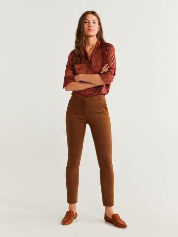 מכנסיים מחוייטים Slim Fit קרופ