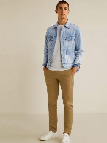 ג'קט ג'ינס בשטיפה בהירה