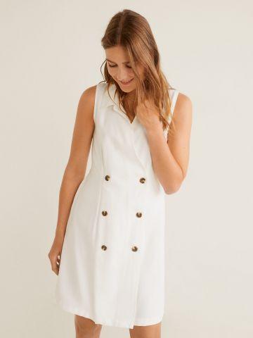 שמלת מיני עם כפתורים