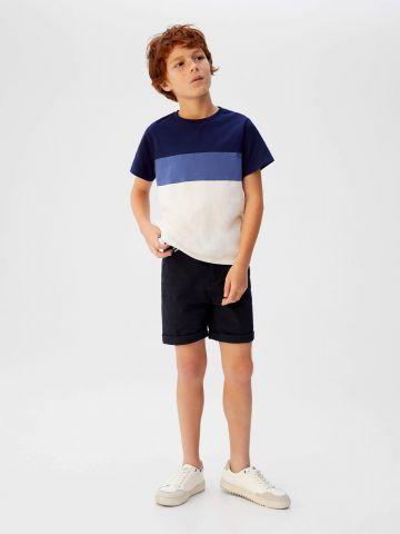 מכנסי ברמודה עם חגורה