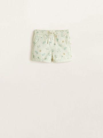 מכנסיים קצרים בהדפס עלים / בייבי בנות