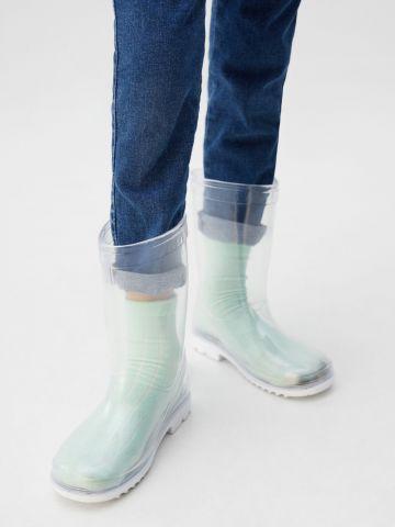 מגפי גומי שקופים / ילדים