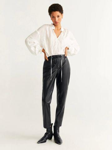 מכנסיים ארוכים דמוי עור