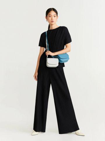 מכנסי פליסה ארוכים של MANGO