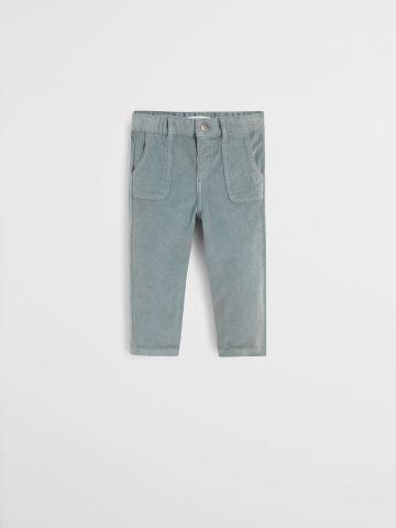 מכנסי קורדרוי עם כיסים / 9M-4Y