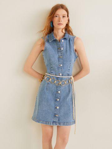 שמלת ג'ינס מיני עם כפתורים