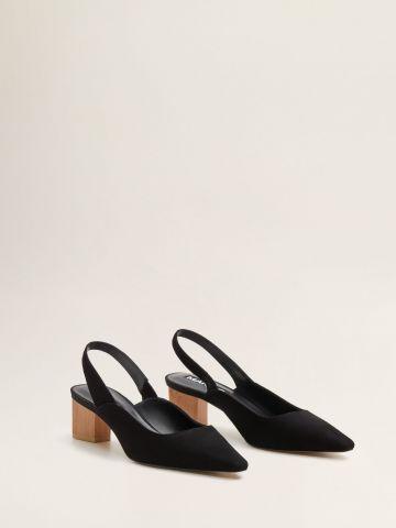 נעלי עקב זמש עם עקב עץ / נשים של MANGO