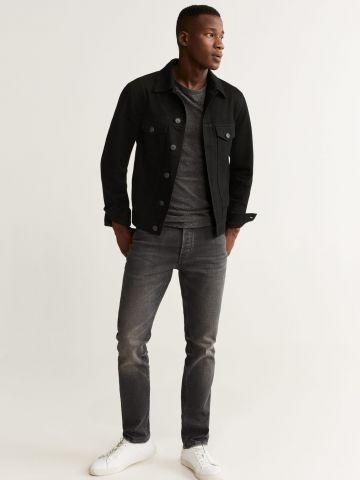 ג'קט ג'ינס עם כיסים