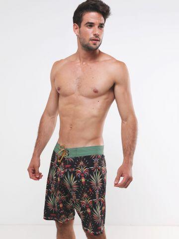 מכנסי בגד ים בהדפס ספארי