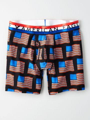 תחתוני בוקסר לונגליין בהדפס USA / גברים