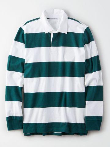 חולצת פולו בהדפס פסים / גברים