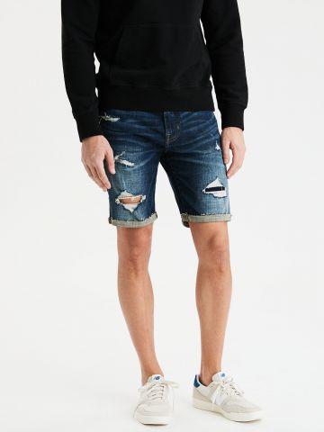 ג'ינס ברמודה בשטיפה כהה