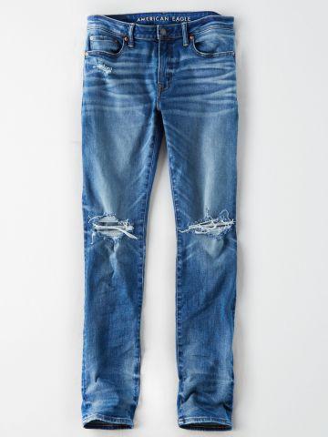 ג'ינס Slim עם קרעים / גברים