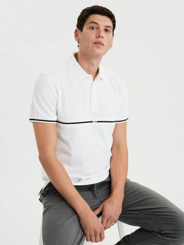 חולצת פולו עם סטריפ לוגו