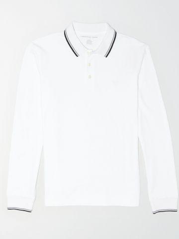 חולצת פולו עם שוליים מודגשים / גברים