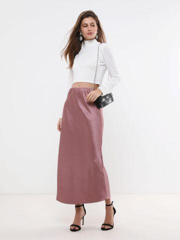 חצאית מקסי סאטן