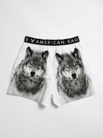 תחתוני בוקסר בהדפס זאבים